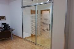 Paereti e porte in vetro - installazione ufficio - Rgm infissi