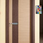 Porta in legno acquamarina con finitura bicolore - Rgm Infissi